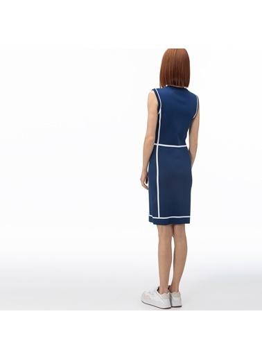 Lacoste Kadın V Yaka Elbise EF0060.60P Mavi